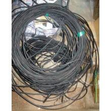 Оптический кабель Б/У для внешней прокладки (с металлическим тросом) в Фрязино, оптокабель БУ (Фрязино)